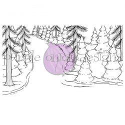 Purple Onion Designs Winter Trail Stamp