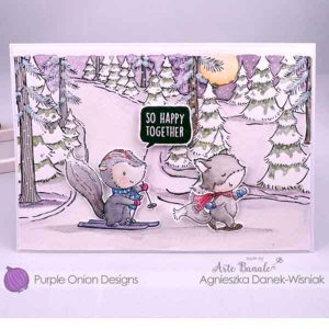 Purple Onion Designs Winter Trail Stamp class=