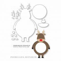 Papertrey Ink Potbellies: Reindeer Die