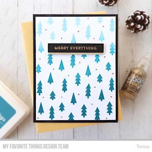 My Favorite Things Pine Tree Forest Stencil class=