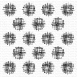 My Favorite Things Crosshatch Polka Dot Background