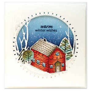 Penny Black Xmas Cottage Clear Stamp Set class=