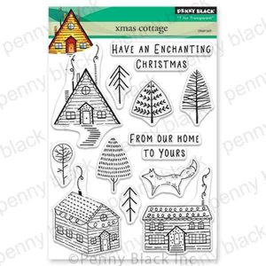 Penny Black Xmas Cottage Clear Stamp Set