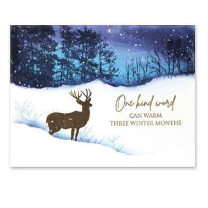 Penny Black Winter Woodland Cling Stamp class=