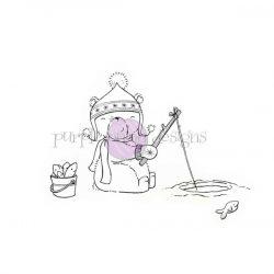 Purple Onion Designs Arthur (Ice Fishing Polar Bear)