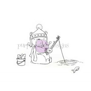 Purple Onion Designs Arthur (Ice Fishing Polar Bear)
