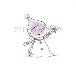 Purple Onion Designs Bianca & Neve (Snowman with Winter Bird)