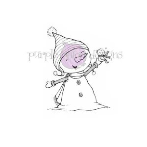 Purple Onion Designs Biana & Neve (Snowman with Winter Bird)