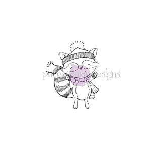 Purple Onion Designs Douglas (Cheering Winter Raccoon)