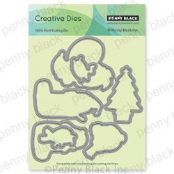 Penny Black Cozy Critters Cut Out Die