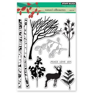 Penny Black Nature's Silhouettes Stamp Set