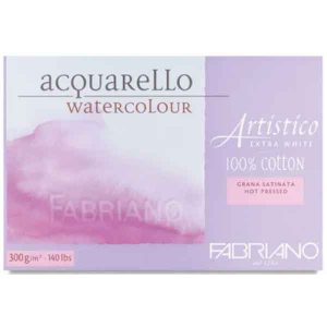 "Fabriano Artistico Extra White Hot Press Watercolor Paper - 8""x11"""