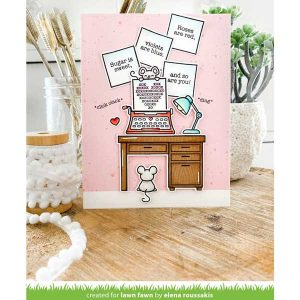 Lawn Fawn You're Just My Type Stamp Set class=