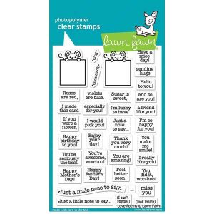 Lawn Fawn Love Poems Stamp Set