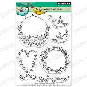 Penny Black Wreath Whimsy Stamp Set