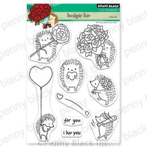 "Penny Black Hedgie Luv Stamp Set <span style=""color:red;"">Reserve - more on the way</span>"