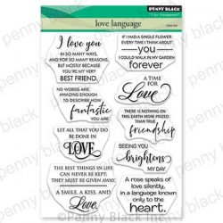 Penny Black Love Language Stamp Set