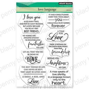 Penny Black Love Language Stamp Set