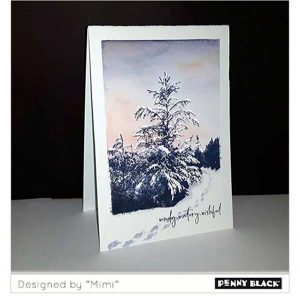 Penny Black Winter Tide Stamp class=