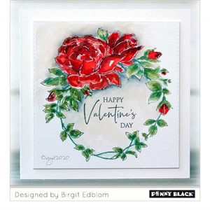 Penny Black Winsome Wreath Stamp class=