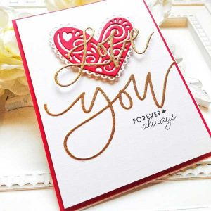 Ink To Paper Just Sentiments: Valentine Mini Stamp Set class=