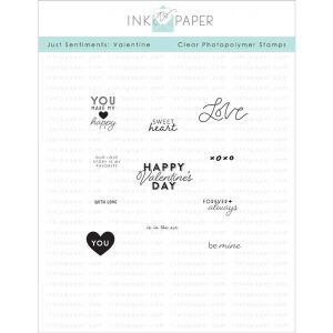 Ink To Paper Just Sentiments: Valentine Mini Stamp Set