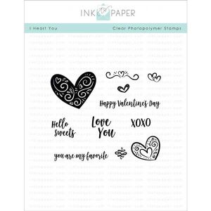Ink To Paper I Heart You Stamp Set