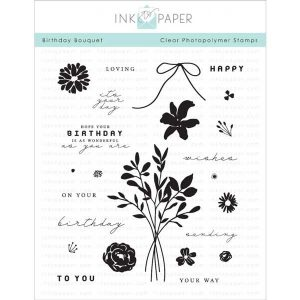 "Ink To Paper Birthday Bouquet Stamp Set  <span style=""color:red;"">Reserve – more on the way</span>"