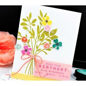 Ink To Paper Birthday Bouquet Stamp Set class=