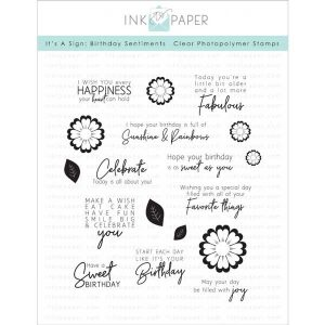 Ink To Paper It's A Sign: Birthday Sentiments Stamp Set
