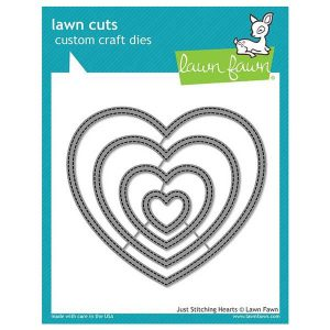 Lawn Fawn Just Stitching Hearts Lawn Cuts