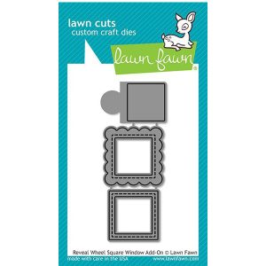 Lawn Fawn Reveal Wheel Square Window Add-On Lawn Cuts