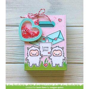 Lawn Fawn Heart Shaker Gift Tag Lawn Cuts class=