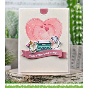 Lawn Fawn Just Stitching Hearts Lawn Cuts class=