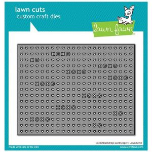 Lawn Fawn XOXO Backdrop: Landscape Lawn Cuts