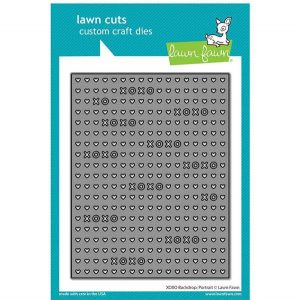 Lawn Fawn XOXO Backdrop: Portrait Lawn Cuts