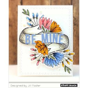 Penny Black Banner Blooms Stamp Set class=