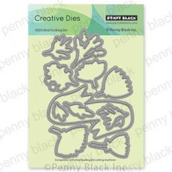 Penny Black Banner Blooms Cut-out Dies
