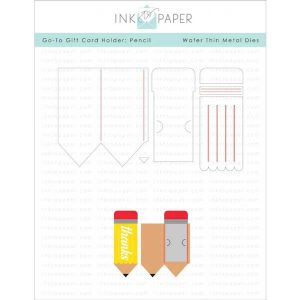 Ink To Paper Go-To Gift Card Holder: Pencil Die
