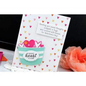 Ink To Paper Border Bling: Tiny Hearts Die class=