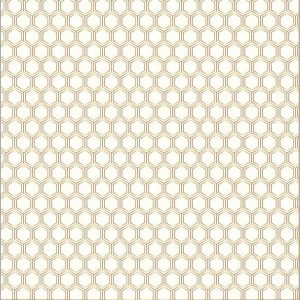 American Crafts Jen Hadfield Gold Foil Accent Cardstock - Honeycomb