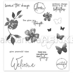 Alexandra Renke Welcome Butterflies Stamp Set