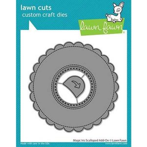 Lawn Fawn Magic Iris Scalloped Add-On Lawn Cuts