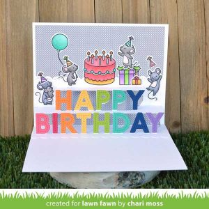 Lawn Fawn Pop-Up Happy Birthday class=