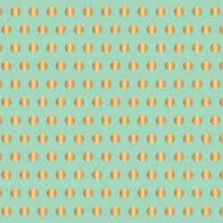 American Crafts Jen Hadfield Gold Foil Accent Cardstock - Mint with Gold Dots