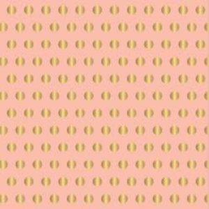 American Crafts Jen Hadfield Gold Foil Accent Cardstock - Pink with Gold Dots