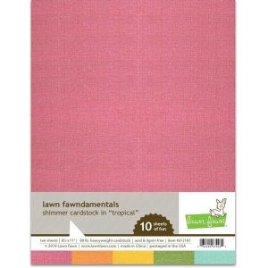 Lawn Fawn Shimmer Cardstock - Tropical