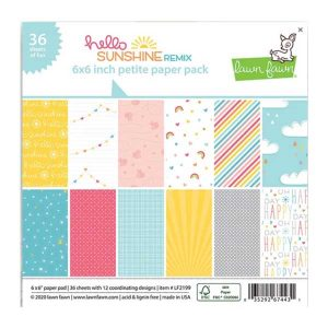 "Lawn Fawn Hello Sunshine Remix Petite Paper Pack - 6"" x 6"""