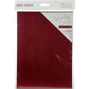 Tonic Studio Craft Perfect Luxury Embossed Cardstock - Crimson Silk