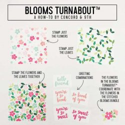 Concord & 9th Blooms Turnabout Stamp